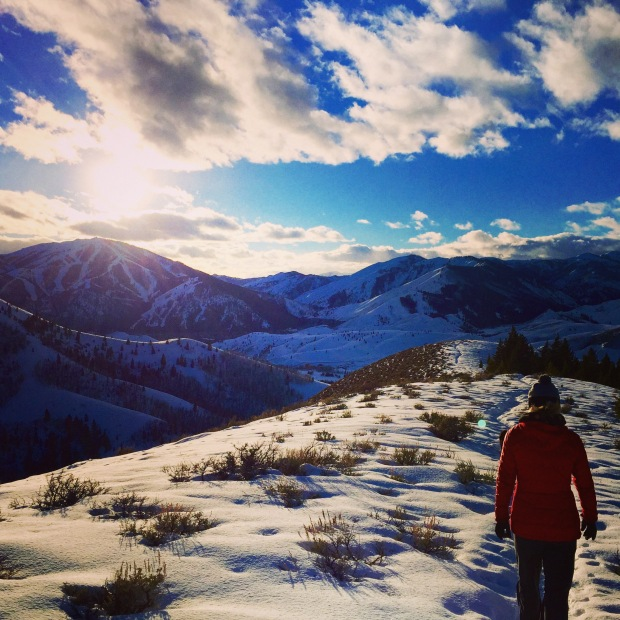 depth-of-winter hike with my cousin
