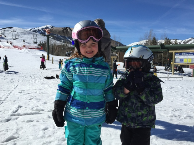 skiing on dollar with isla and drew