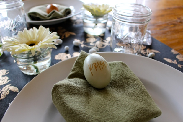 hard-boiled egg for name tag