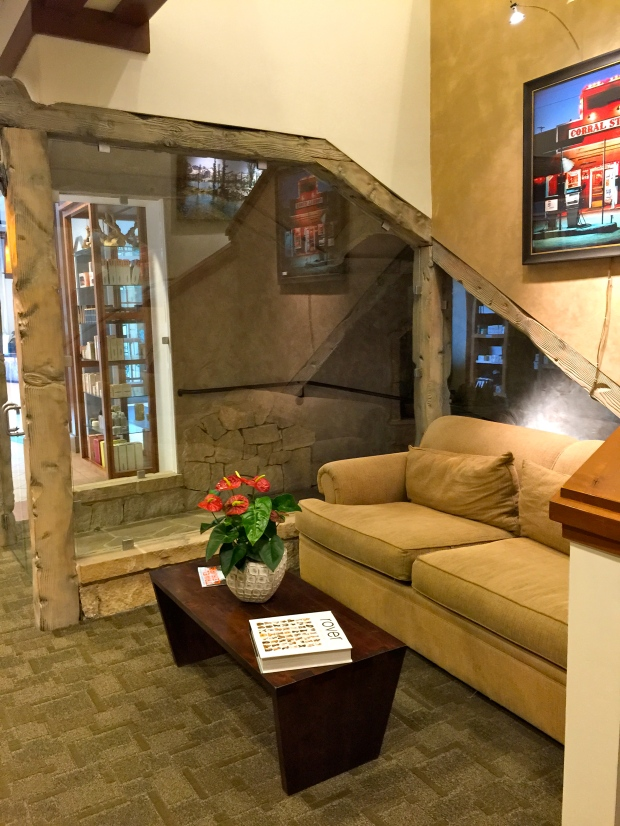 the entrance of the spa at zenergy