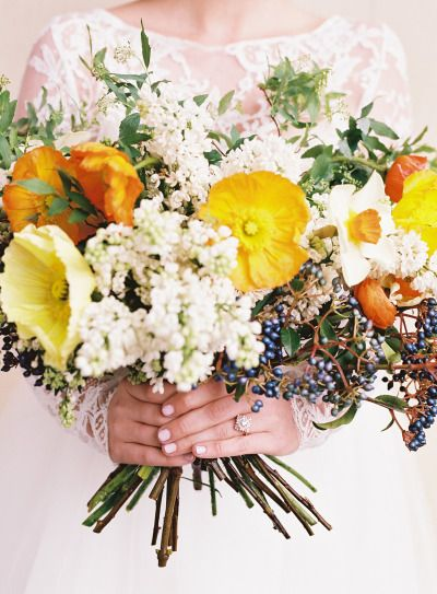 love the texture of this bouquet, also from stylemepretty