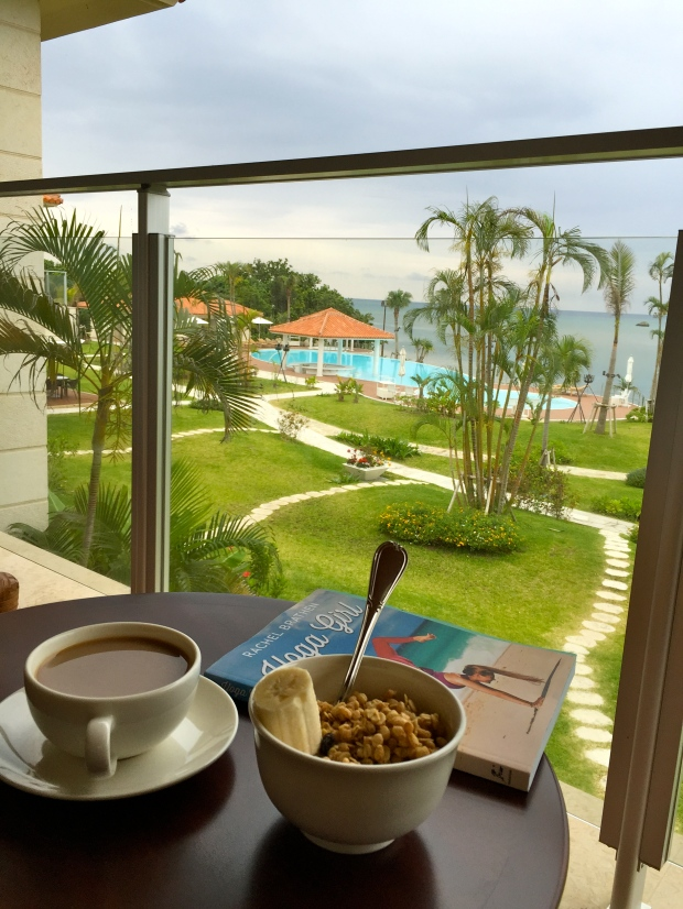 breakfast of champions with the most incredible view