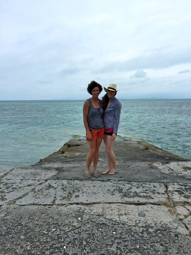 heidi & i surrounded by the clearest, turquoise water i have ever seen