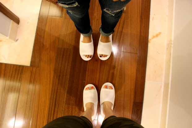 we were kindly given slippers upon entering our room