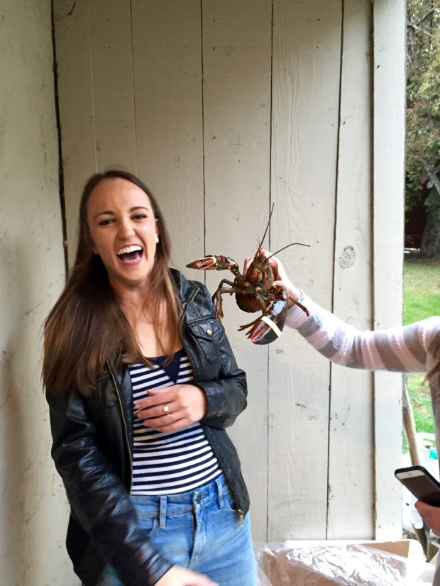 taylor getting a lobster surprise