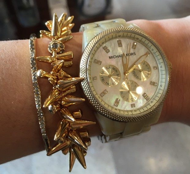 love both bracelets with my michael kors watch