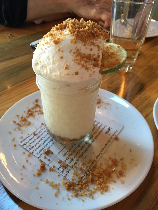 incredible key lime pie in a mason jar at rock creek