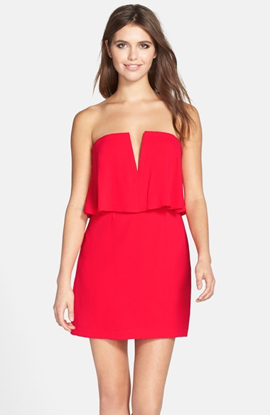 seriously on sale (70% off!) at Dillard's, I love this strapless BCBG dress that I wore to Jenna's rehearsal dinner