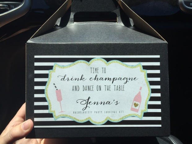 survival kits, also from Etsy and organized by the maid of honor