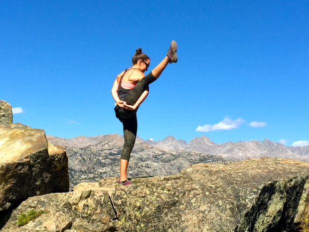 a hike without a yoga pose is not a real hike