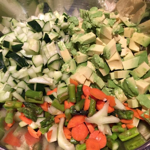 undressed veggies