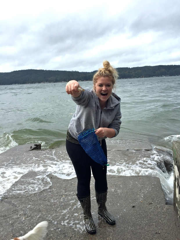 caught it with her bare hands