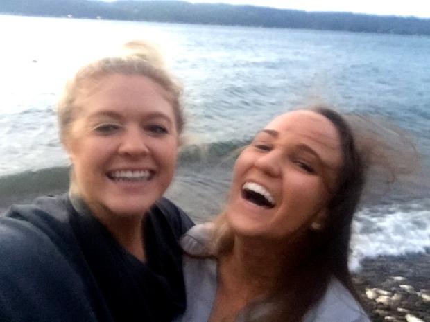 seashore selfies in the wind