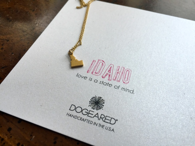 the most amazing idaho necklace birthday present from the boy's parents