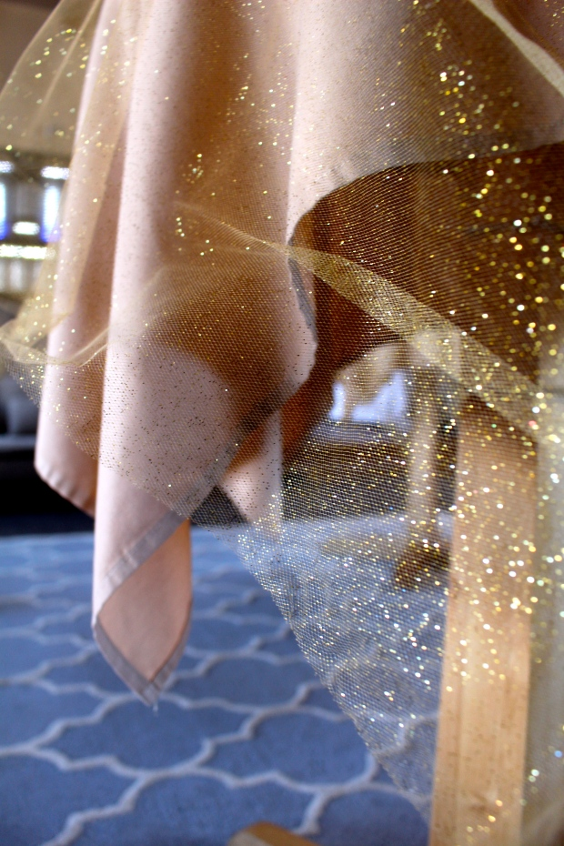 so much gold, so much glitter, so much tulle
