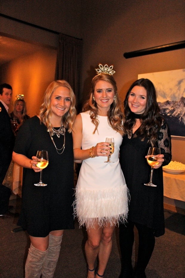 the bride and two of her maids