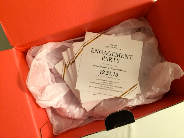 love the invites but really love the color of this box!