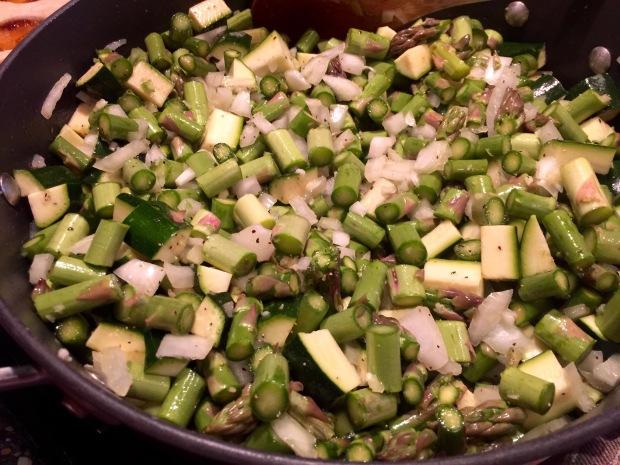 fresh, chopped veggies