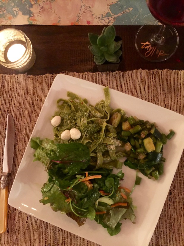 my veggie, very green plate