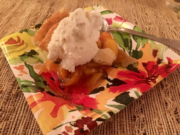 peach, lemonade pie + ice-cream (recipe to come!)
