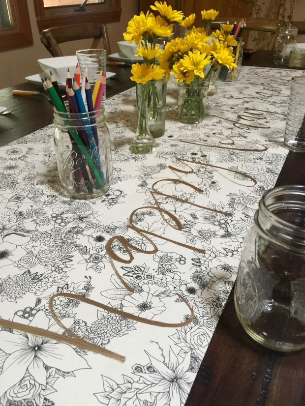 incredible color-able table runner