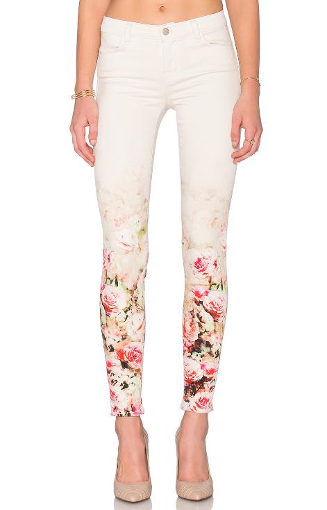 j brand super skinny floral pant