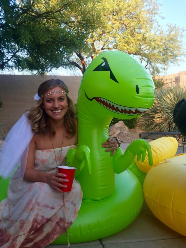 the most beautiful bride to be (& her dino!)