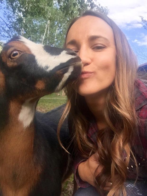 goat snuggles!