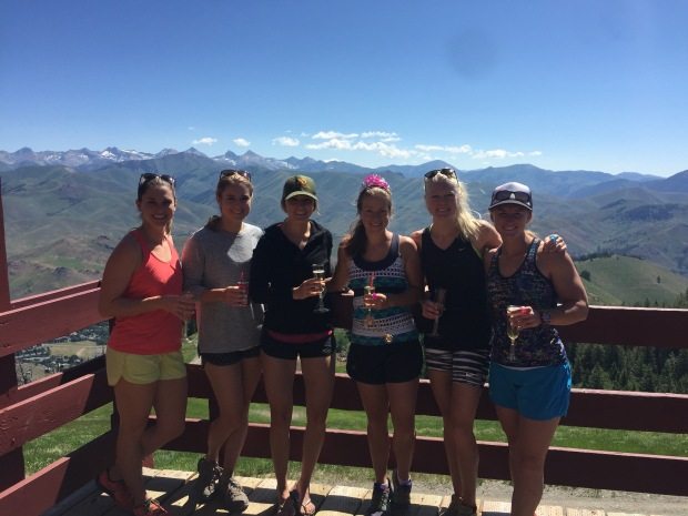 baldy hikes + champs for a favorite lady!